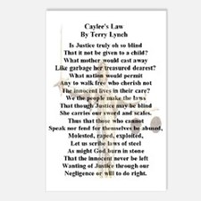 caylees_law_poem_c2011by_ Postcards (Package of 8)