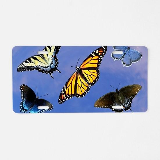 Butterfly Assortment Laptop Aluminum License Plate