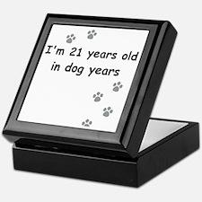 21 dog years 3 Keepsake Box