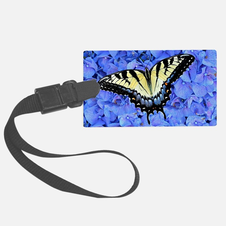 Yellow Swallowtail Butterfly Lap Luggage Tag