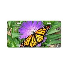 Monarch Buttefly Purple Pix Aluminum License Plate
