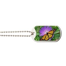 Monarch Buttefly Purple Pixie Flower Lapt Dog Tags