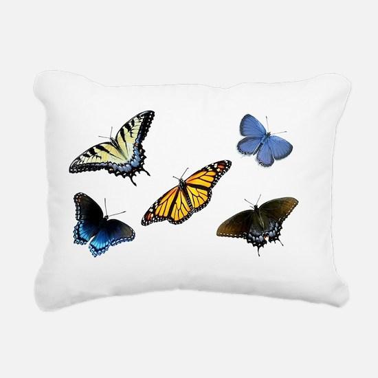 Butterfly Assortment Lap Rectangular Canvas Pillow