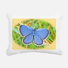 Blue Butterfly Laptop Sk Rectangular Canvas Pillow
