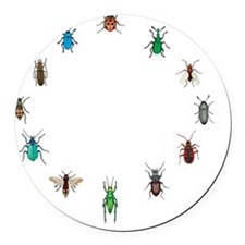 bug circle Round Car Magnet