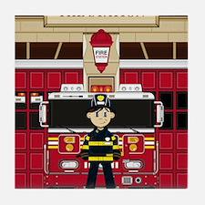 Fireman Pad19 Tile Coaster