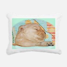 Golden Retriever Laptop  Rectangular Canvas Pillow