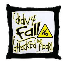 i didnt fall sq nb Throw Pillow