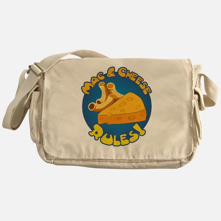 Mac  Cheese Rules Messenger Bag