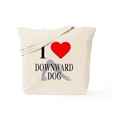 I heart downward dog Tote Bag