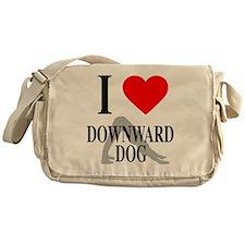 I heart downward dog Messenger Bag