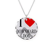 I heart downward dog Necklace