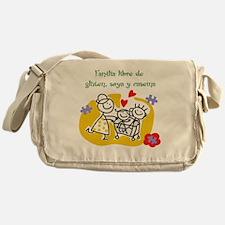 Familia libre de gluten, soya y case Messenger Bag