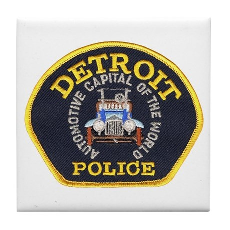 Detroit Police Tile Coaster
