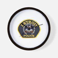 Detroit Police Wall Clock