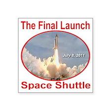 "space_shuttle_final_launch_ Square Sticker 3"" x 3"""