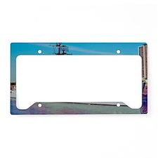 davis large framed print License Plate Holder