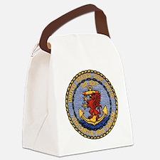 davis patch Canvas Lunch Bag
