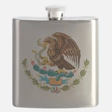 mexico-coat-of-arms Flask