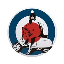 Scooter Girl Round Ornament