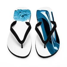 Periwinkle blue stiletto shoe and rose  Flip Flops