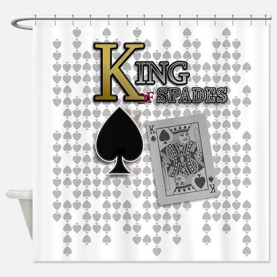 King of Spades Poker Design Shower Curtain