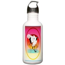 OvalJewelRed Crowned C Water Bottle