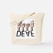 ASL/Shadowed KISS Deaf Tote Bag