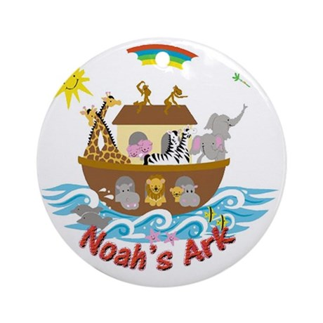 Noahs Ark Round Ornament