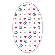 paw prints hearts-iphone Decal
