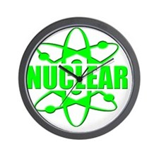 funny nuclear radiation atomic Wall Clock