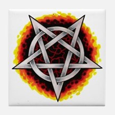 pentagram  Tile Coaster