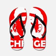 Che-Bama NEGATIVE RED Flip Flops