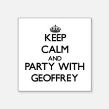Keep Calm and Party with Geoffrey Sticker