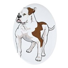 AM BULLDOG 1 Oval Ornament