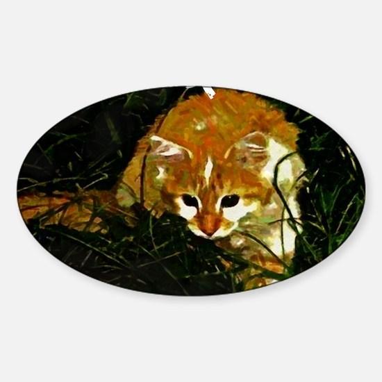 Attack Kitten Sticker (Oval)