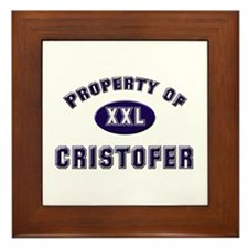 Property of cristofer Framed Tile