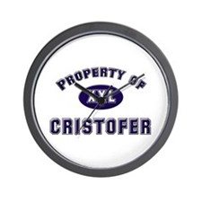 Property of cristofer Wall Clock
