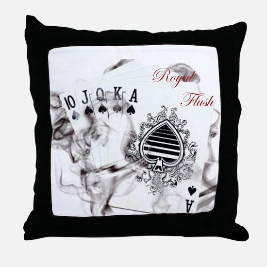 SmokinRoyalFlushB Throw Pillow