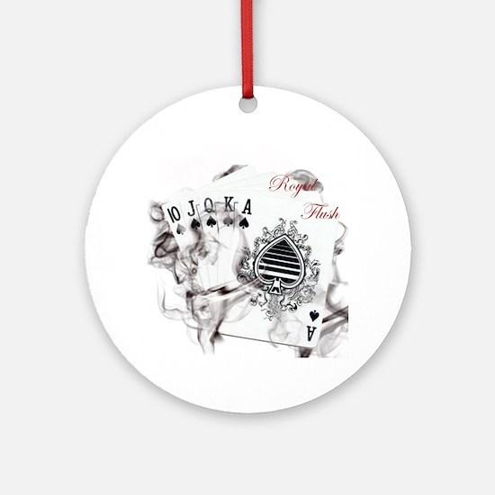 SmokinRoyalFlushB Round Ornament