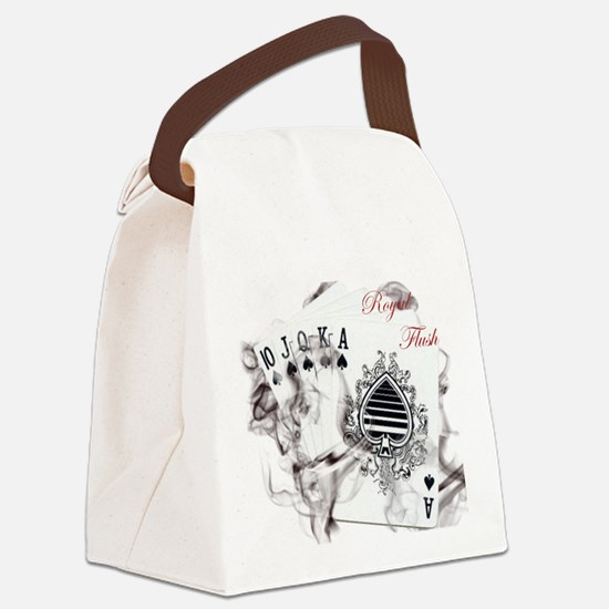 SmokinRoyalFlushB Canvas Lunch Bag