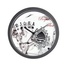 SmokinRoyalFlushB Wall Clock