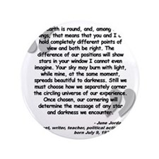 "Jordan Cornering Quote 3.5"" Button"