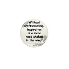 Brahms wind quote Mini Button