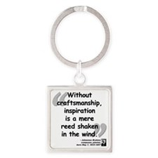Brahms wind quote Square Keychain