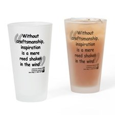 Brahms wind quote Drinking Glass