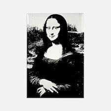 Mona Lisa Rectangle Magnet