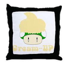Cream-up Throw Pillow