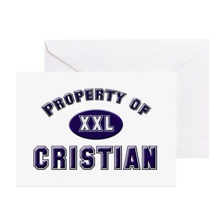 Property of cristian Greeting Cards (Pk of 10)