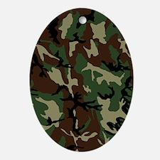 camo-green_ff Oval Ornament